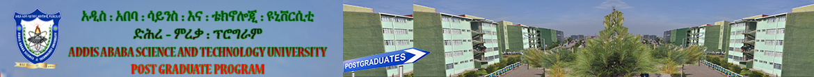 Admission to Master's Programs – Addis Ababa Science and