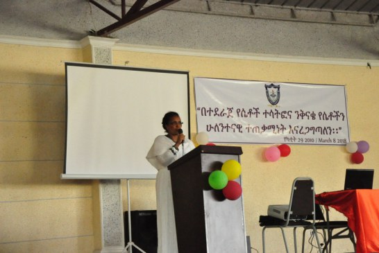 Dr Adam,Director of Gender Directorate speaking in one of  the meetings of our University