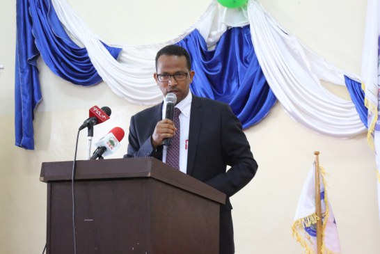 H.E. Dr. Ing. Getahun Mekuria,Minister,Ministry of Science and Technology Addressing  an Opening Speech at AASTU Annual Conference