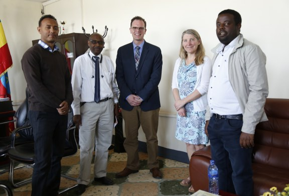 Prof. Bankart Charles from University of Kansas has visited AASTU.
