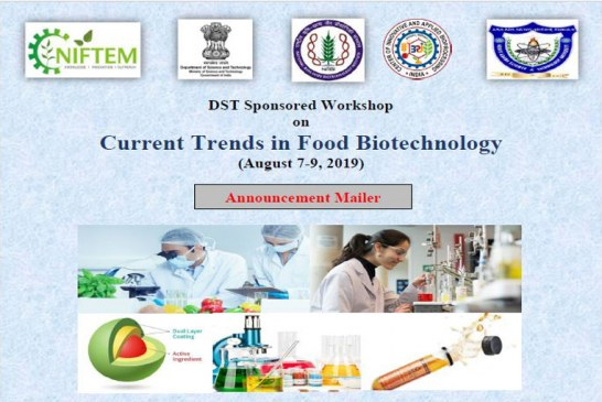 Workshop invitation on Current trends in food biotechnology