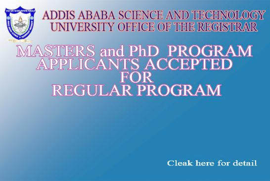 List of postgraduate applicants accepted for 2020/2021 admission