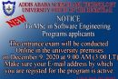 To all MSc in Software Engineering applicants