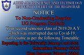To all Non-Graduating Regular UG Program Students