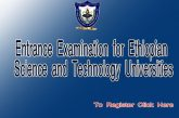 Entrance Examination for Ethiopian Science and Technology Universities